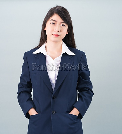 portrait, of, asian, businesswoman, isolated, on - 29626611