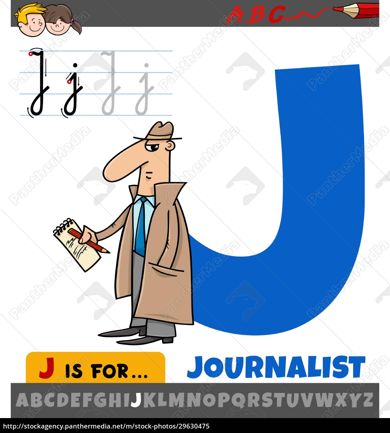 letter, j, from, alphabet, with, journalist - 29630475