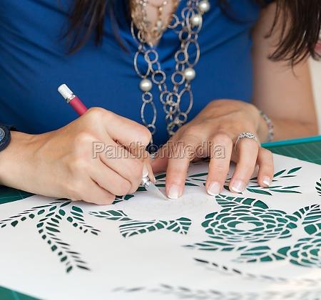 kreationen von papierschnitten