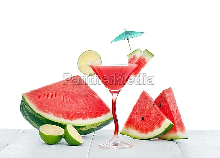 drink, of, watermelon, juice, with, lime - 29632607