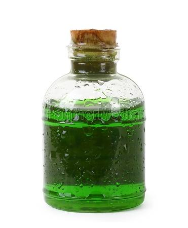 flasche gruene fluessigkeit