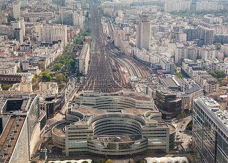 luftaufnahme des bahnhofs paris