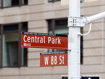 central park zeichen