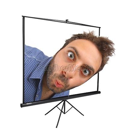 wow ausdruck auf projektionsflaeche
