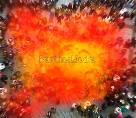 terrorist, blows, himself, up, among, people. - 29644361