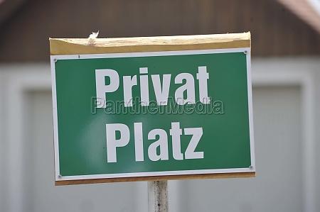kein betreten von privateigentum oder einer