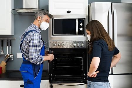 ofengeraet appliance in kueche von handyman