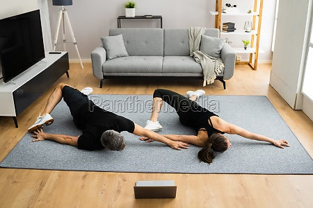 online laptop home fitness workout
