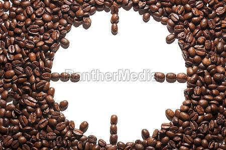 kaffeebohnen als uhr