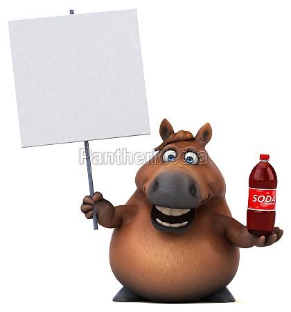 spass pferd 3d illustration