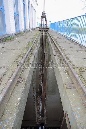schlitzsperre wasserpumpstation schrauben verriegeln hydraulische konstruktion