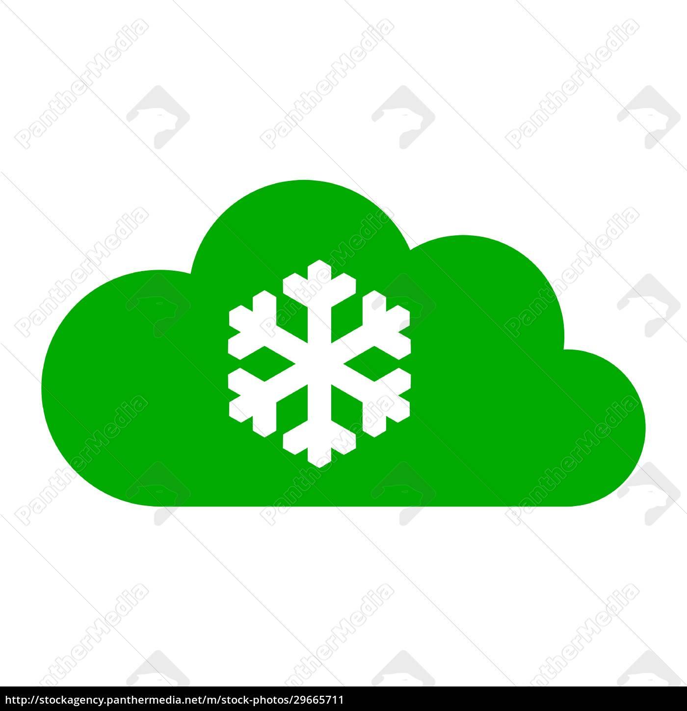schneeflocke, und, wolke - 29665711