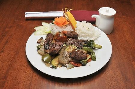 japanisches hibachi steak