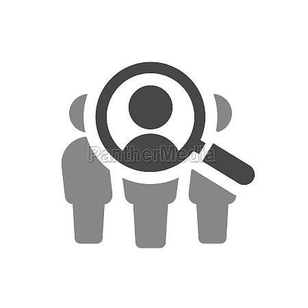 lupe, mit, personen, suche, vektor-symbol - 29674130