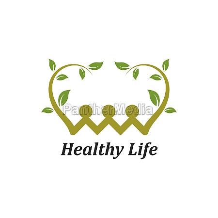 healthy life menschen logo vorlage vektor