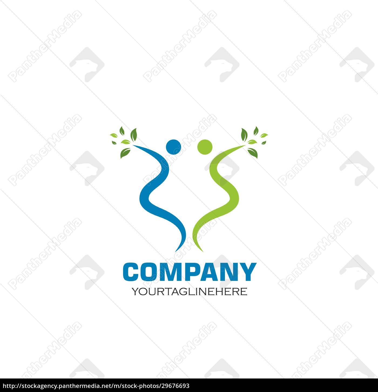 healthy, life, menschen, logo-vorlage, vektor - 29676693