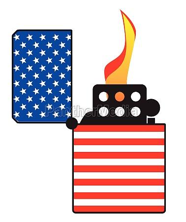 sterne und streifen flagge offene zigarette