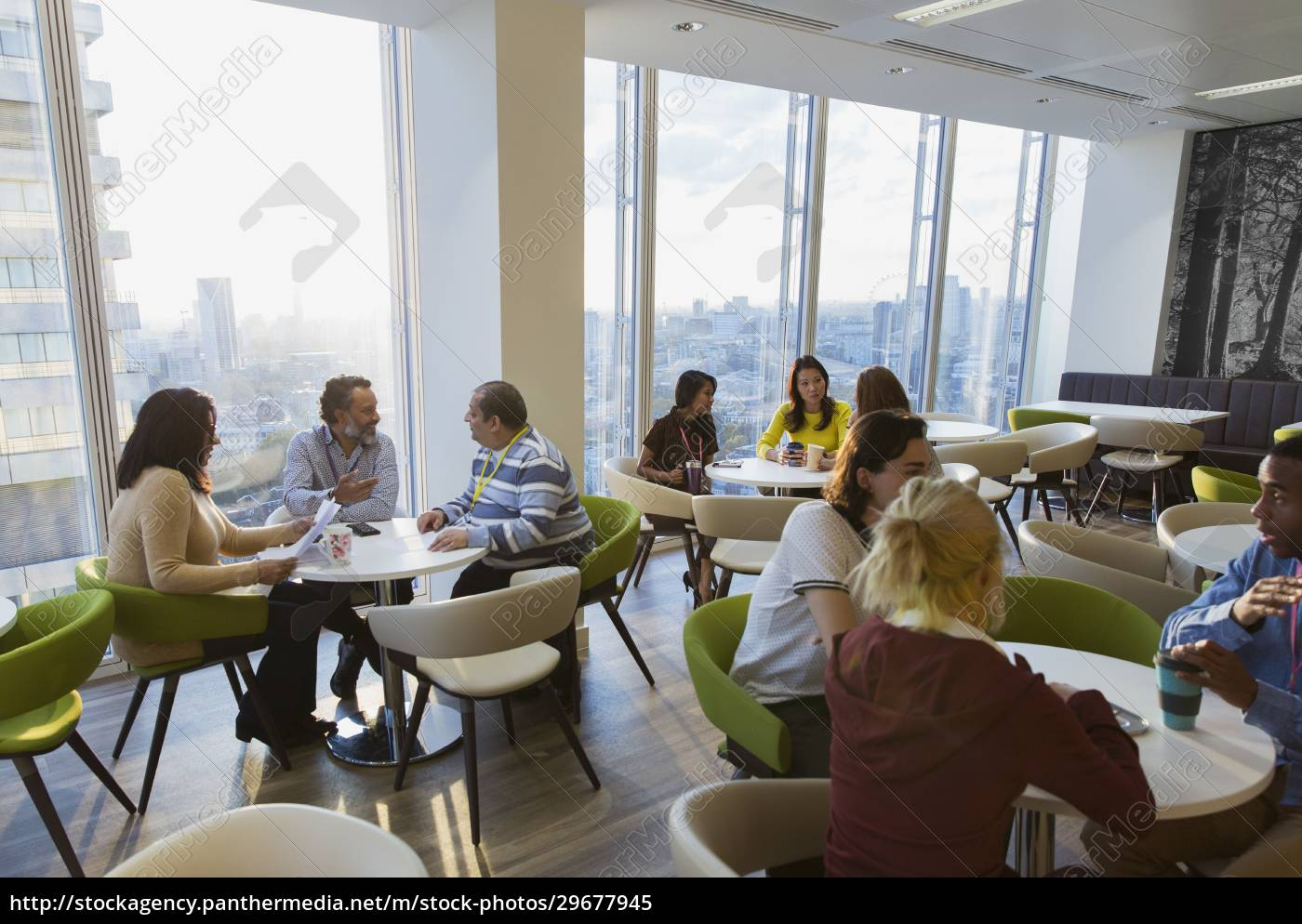 business, people, meeting, and, eating, lunch - 29677945