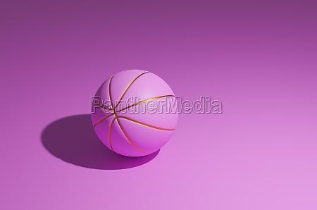 rosa basketball mit goldenen linien