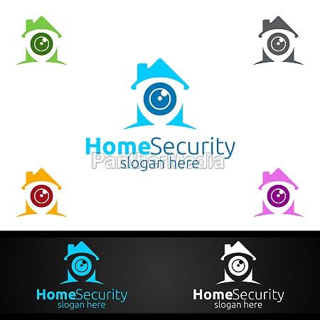 kamera cctv home security logo fuer