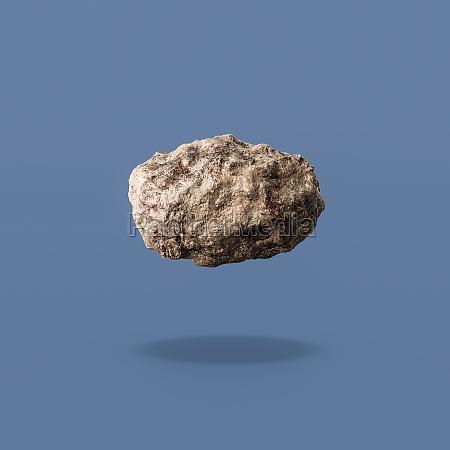 asteroid auf blauem hintergrund isoliert
