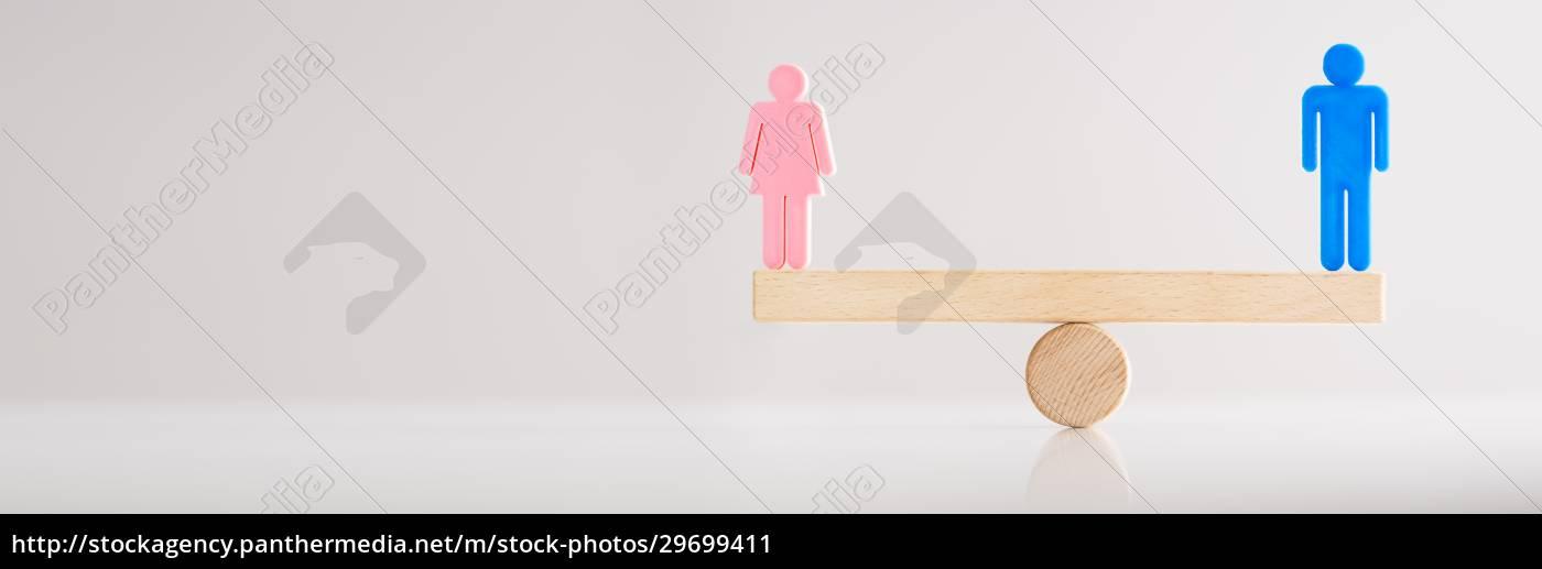 gleiches, geschlecht, seesaw, balance - 29699411