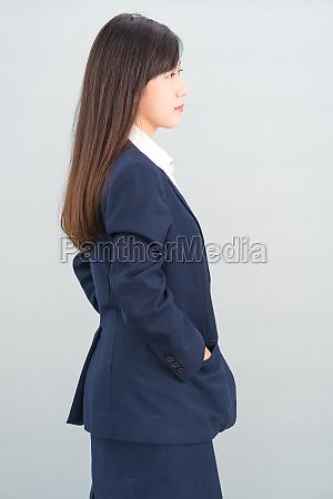 porträt, der, asiatischen, geschäftsfrau, isoliert, auf - 29699342