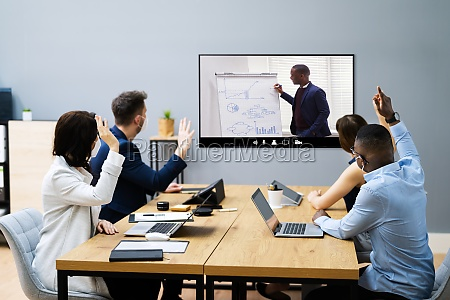 video telefonkonferenz abstimmung bei collaboration meeting