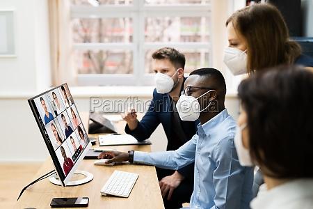 videokonferenz, bei, business, meeting - 29700076