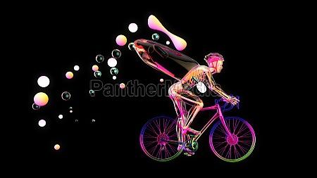 3d illustration einer anatomie eines roentgenradlers