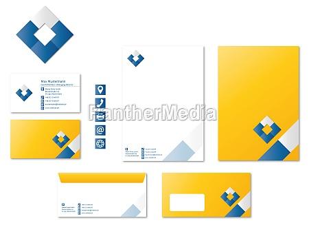 corporate design stationaere logo ikonen moderne