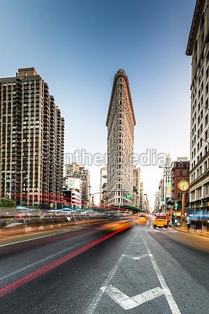 new york city strasse mit bewegung
