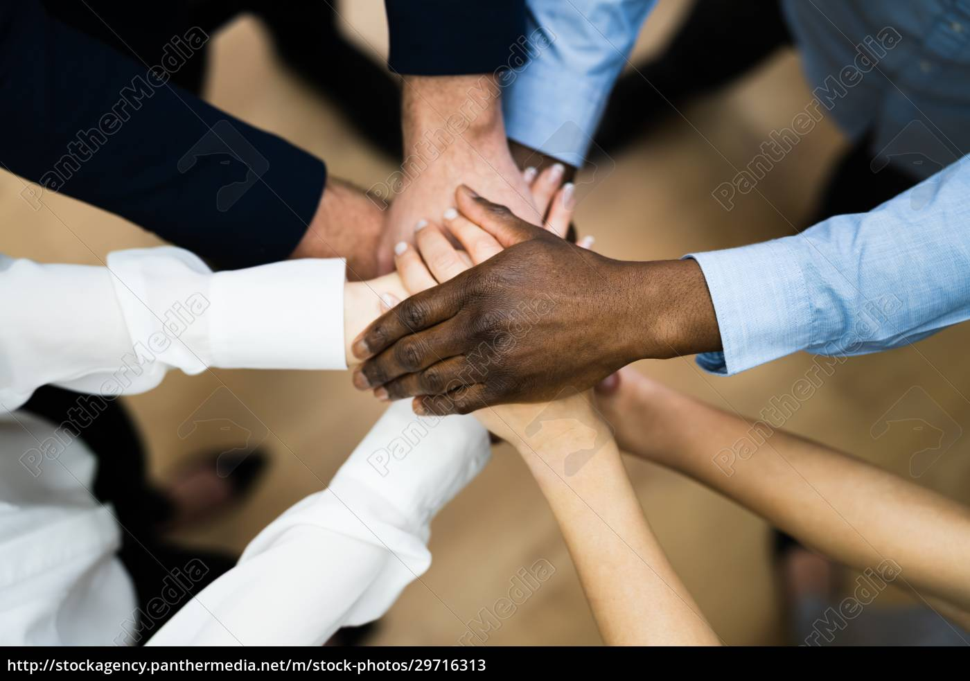 diverse, business, people, hands, stack., community - 29716313