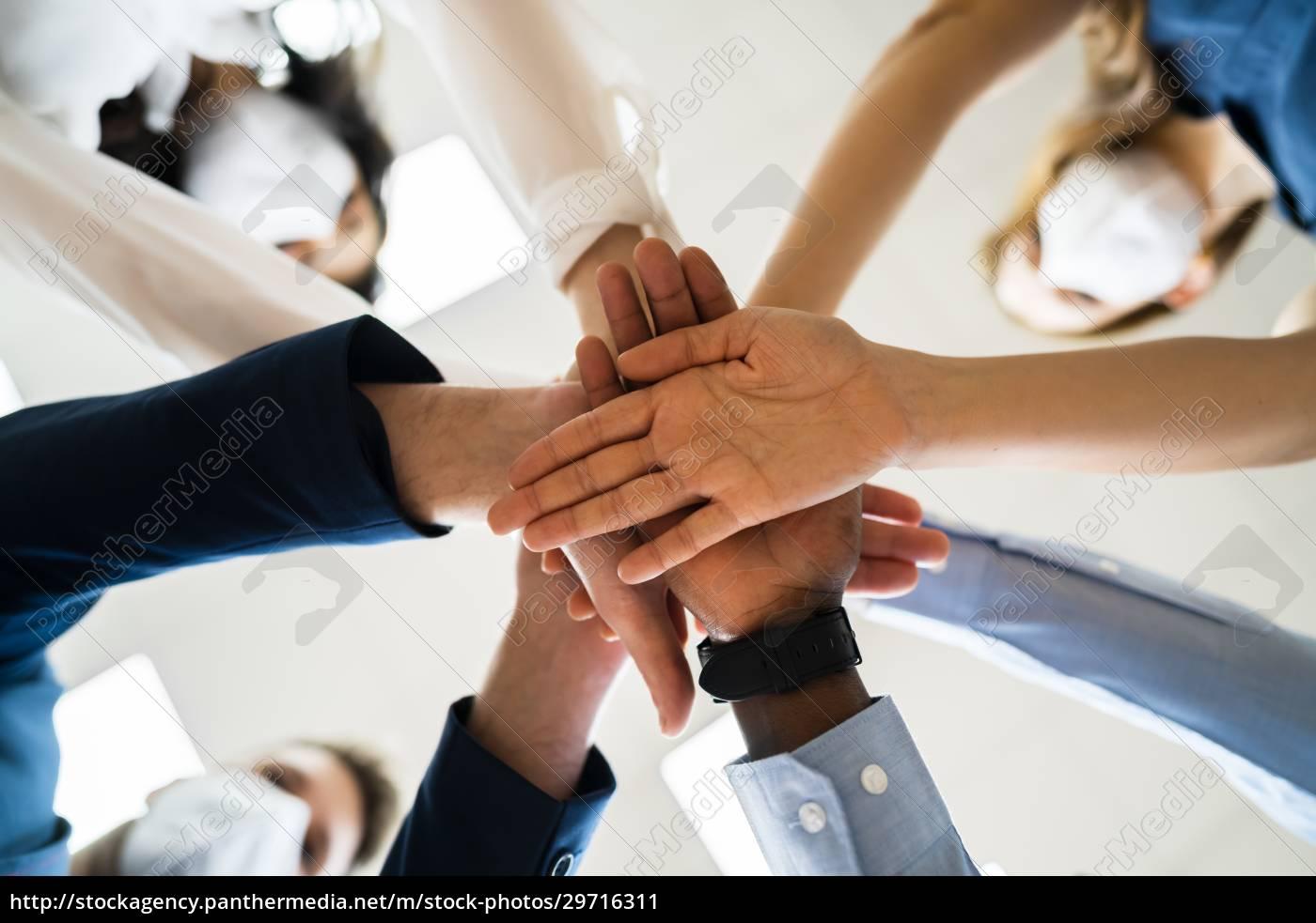 diverse, business, people, hands, stack., gemeinschaft - 29716311