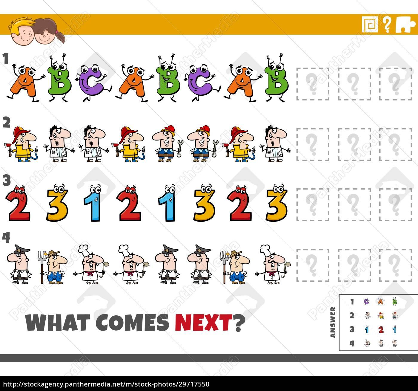 educational, pattern, game, for, children, with - 29717550