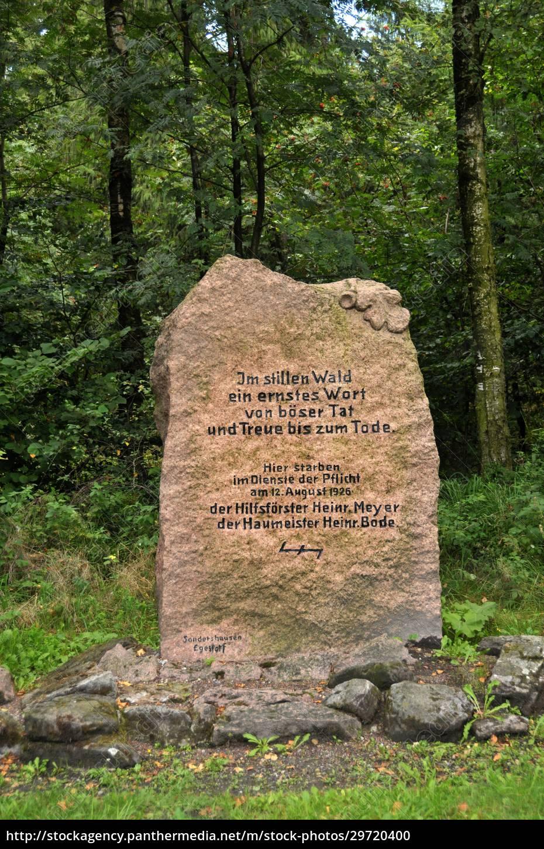 memorial, stone, in, the, deister, near - 29720400