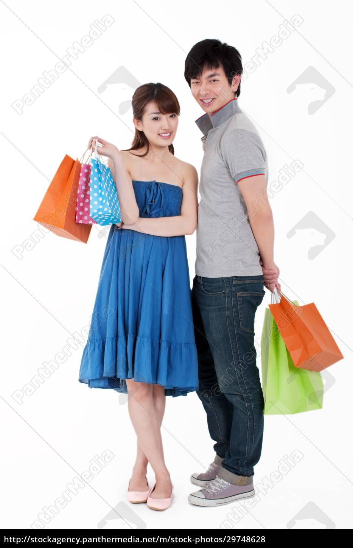 junge, leute, gehen, einkaufen - 29748628