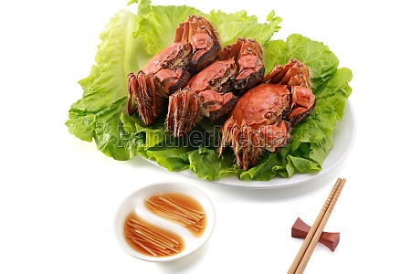 haarige krabben yangcheng see geschirr lebensmittel