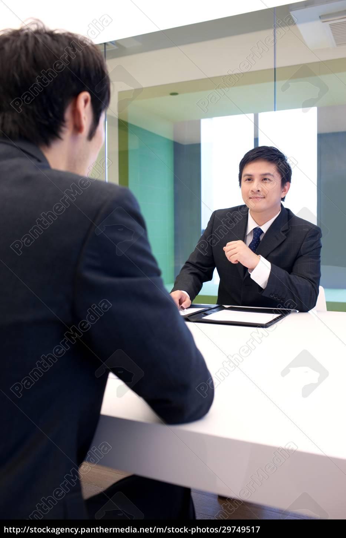 interview, von, geschäftsleuten - 29749517