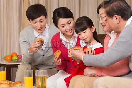 traditionelle mondkuchen mid autumn festival