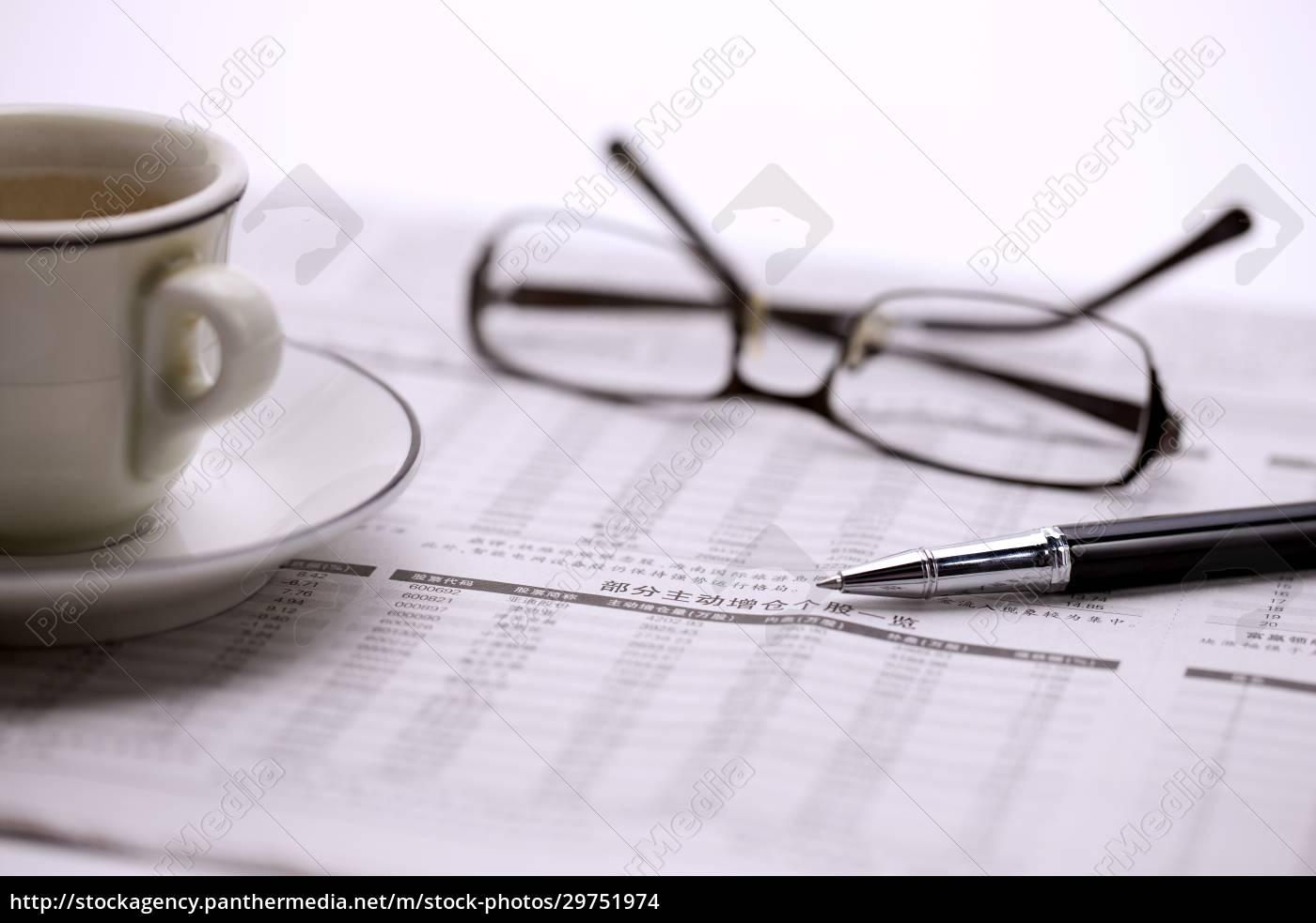 message, teacup, newspaper, financial, management, transverse - 29751974