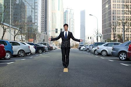 asphalt strasse business menschen asiaten architektur