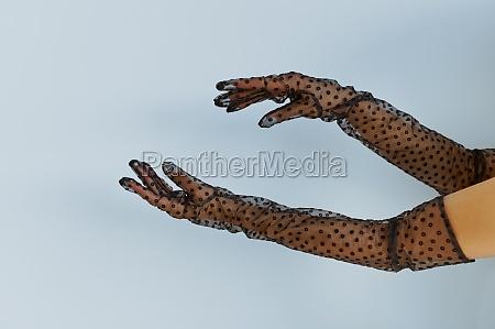 sexy, woman's, hands, , transparent, lingerie - 29761051