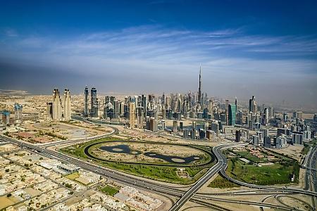 stadtlandschaft von dubai vereinigte arabische emirate