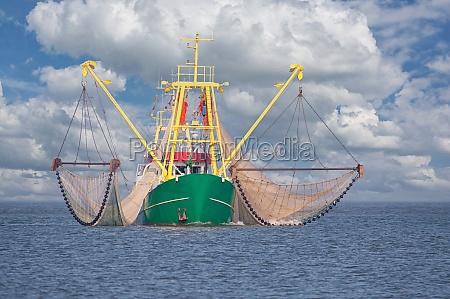 garnelenboot nordsee nordfriesland deutschland