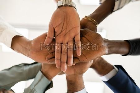 african business team haende