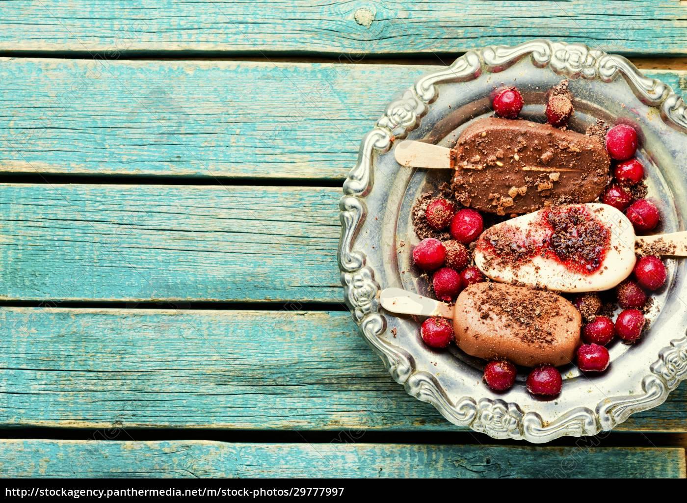 chocolate, ice, cream, on, a, stick - 29777997