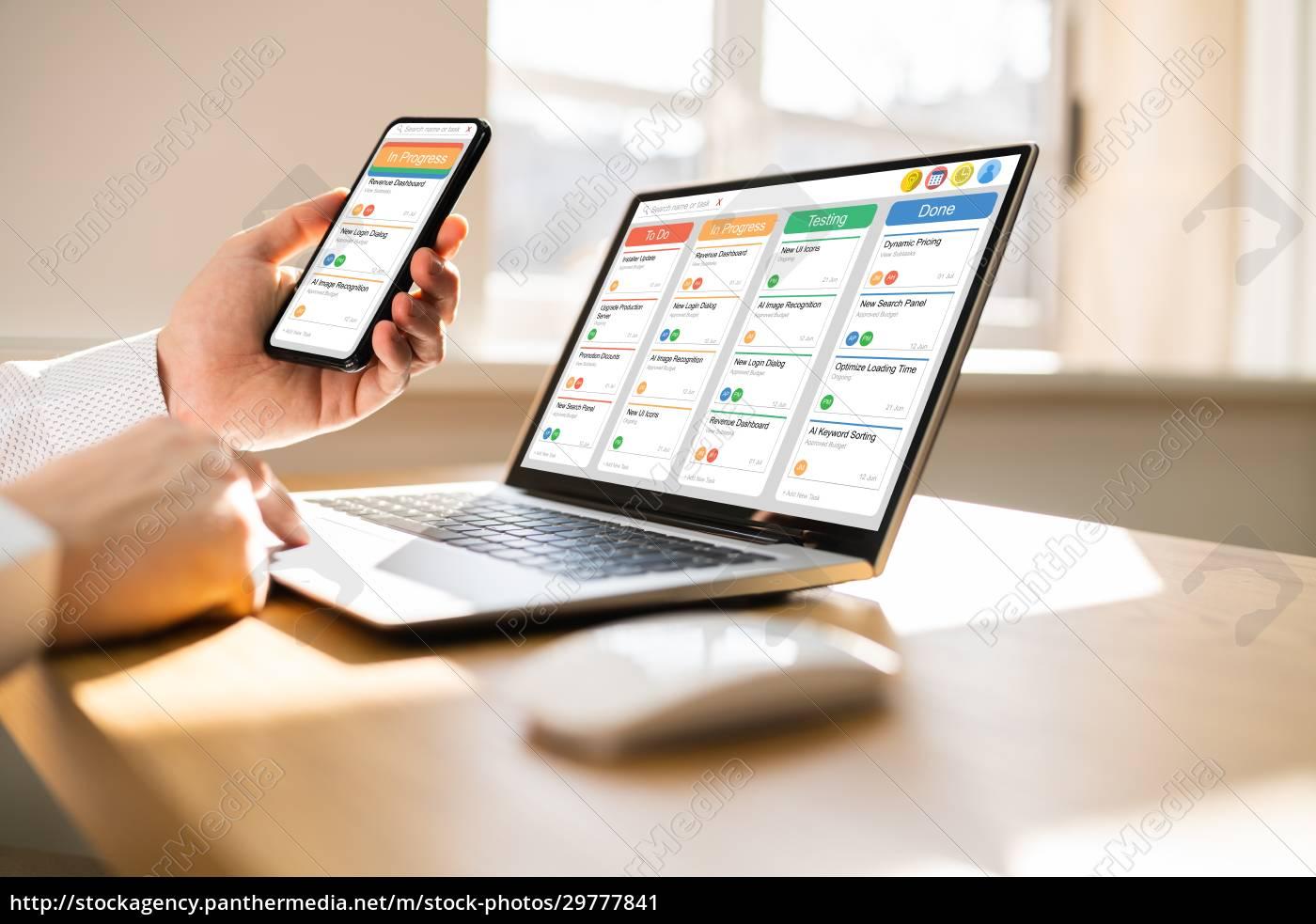 kanban, scrum, zeitplan, board, plan, app - 29777841
