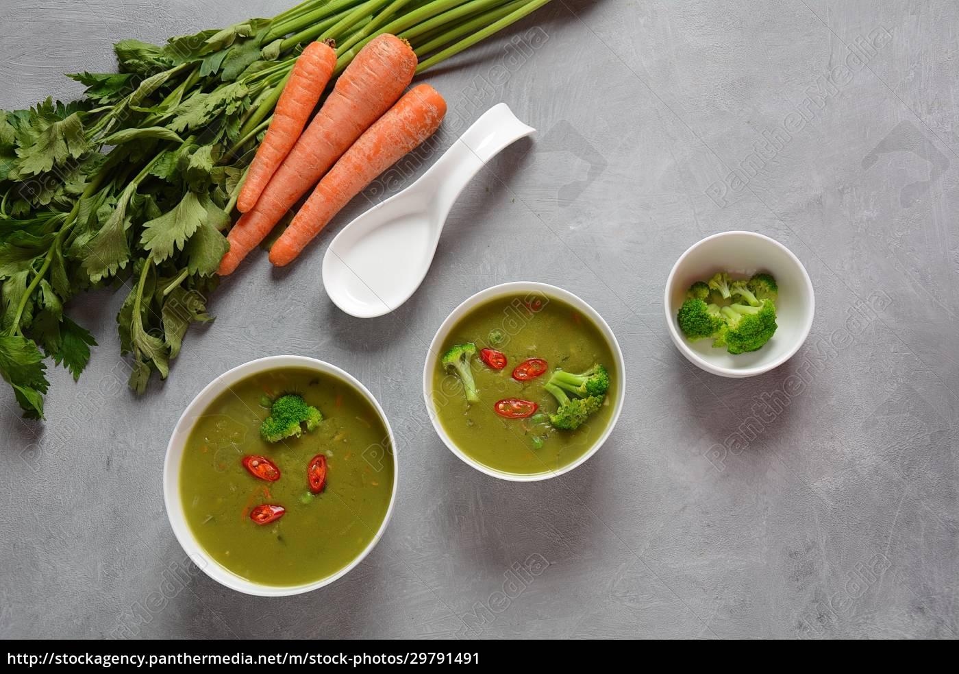 healthy, vegan, creamy, blended, vegetable, soup - 29791491