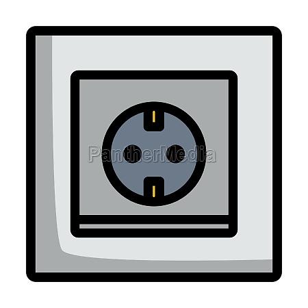 europa elektrische steckdose icon
